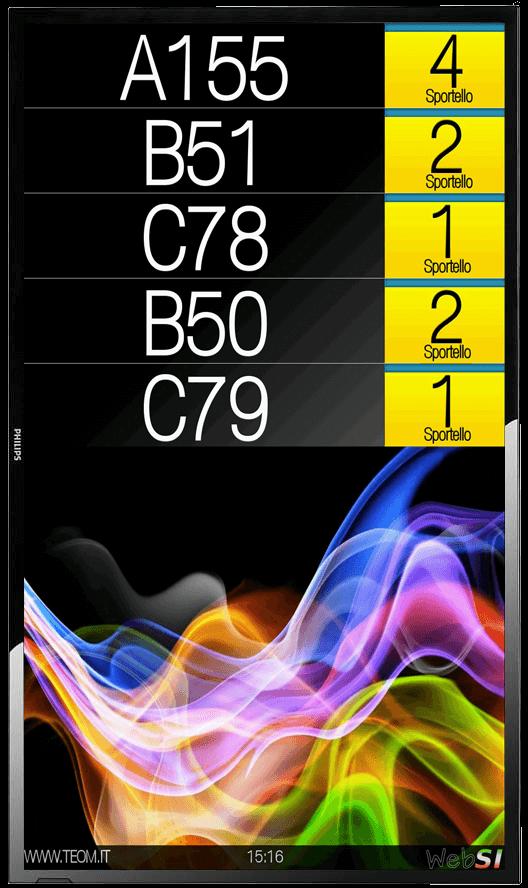 websi monitor chiamata media verticale